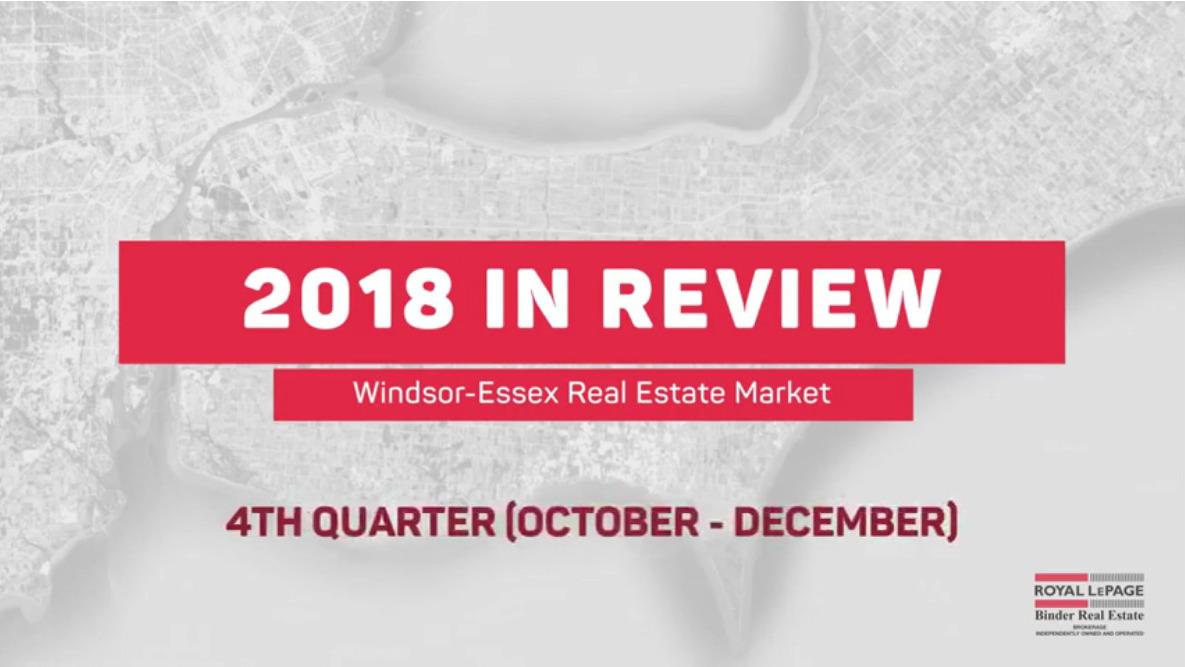 Q4 2018 Statistics for Windsor-Essex Real Estate